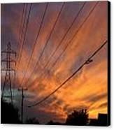 Electric Sunset Canvas Print by Nina Fosdick