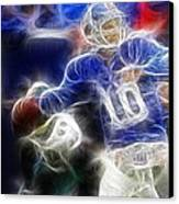 Eli Manning Ny Giants Canvas Print by Paul Ward