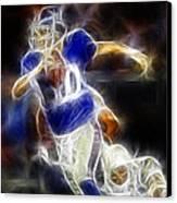 Eli Manning Quarterback Canvas Print by Paul Ward
