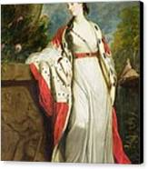 Elizabeth Gunning - Duchess Of Hamilton And Duchess Of Argyll Canvas Print by Sir Joshua Reynolds