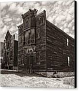Elkhorn Ghost Town Public Halls 3 - Montana Canvas Print by Daniel Hagerman