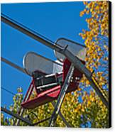 Empty Chair On Ferris Wheel Canvas Print by Thom Gourley/Flatbread Images, LLC
