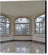 Empty Room In Turret With Windows Canvas Print by Douglas Orton