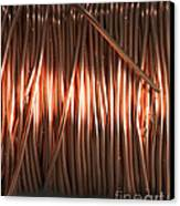 Enamel Coated Copper Wire Canvas Print by Photo Researchers