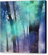 Enchanted Forest. Painting With Light Canvas Print by Jenny Rainbow