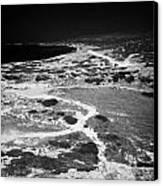 End Of The Main Road At White River Canyon Akamas Peninsula Republic Of Cyprus Europe Canvas Print by Joe Fox