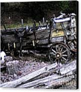 End Of The Trail Oregon Conestoga Wagon  Canvas Print by Glenna McRae