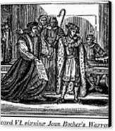 England: Martyr, 1550 Canvas Print by Granger