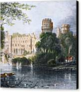 England: Warwick Castle Canvas Print by Granger