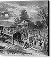 Enslaved African-americans Running Canvas Print by Everett