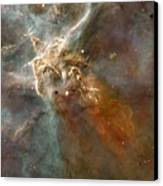 Eta Carinae Nebula, Hst Image Canvas Print by Nasaesan. Smith (university Of California, Berkeley)hubble Heritage Team (stsclaura)