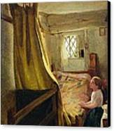 Evening Prayer  Canvas Print by John Bagnold Burgess