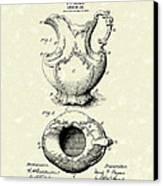 Ewer Or Jug Design 1900 Patent Art Canvas Print by Prior Art Design