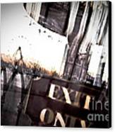 Exit Only Canvas Print by Pixel Perfect by Michael Moore