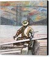 Experienced Craftsman Canvas Print by Al Goldfarb