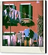 Facades Of Burano. Venice Canvas Print by Bernard Jaubert
