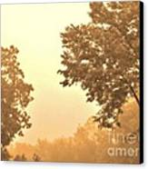 Fall Foggy Morning Canvas Print by Marsha Heiken