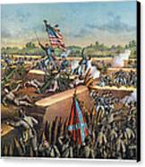 Fall Of Petersburg, 1865 Canvas Print by Granger