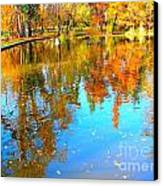 Fall Reflections Canvas Print by Ana Maria Edulescu