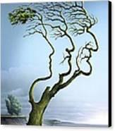 Family Tree, Conceptual Artwork Canvas Print by Smetek