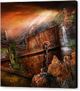Fantasy - Ship Wrecked Canvas Print by Mike Savad
