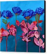 Fantasy Blues Canvas Print by Michelle Wiarda