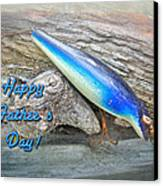 Fathers Day Greeting Card - Vintage Floyd Roman Nike Fishing Lure Canvas Print by Mother Nature