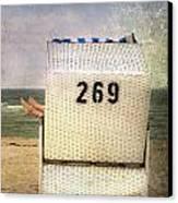 Feet And Beach Chair Canvas Print by Joana Kruse