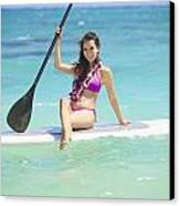 Female Paddler II Canvas Print by Tomas del Amo