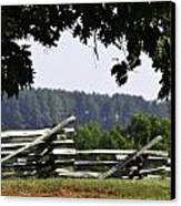 Fence At Appomattox Canvas Print by Teresa Mucha