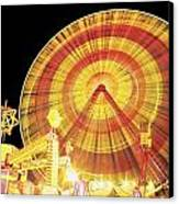 Ferris Wheel And Other Rides, Derry Canvas Print by The Irish Image Collection