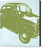 Fiat 500 Canvas Print by Naxart Studio