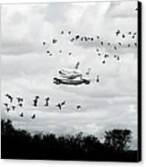 Final Flight Of The Enterprise Canvas Print by Tolga Cetin
