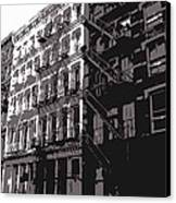 Fire Escapes Bw3 Canvas Print by Scott Kelley