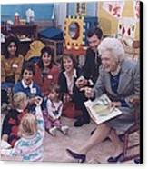 First Lady Barbara Bush And Missouri Canvas Print by Everett