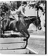 First Lady Jacqueline Kennedy, Riding Canvas Print by Everett
