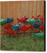 Fish From Cars Canvas Print by Ben Dye