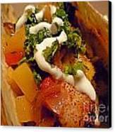 Fish Taco With Mango Salsa Canvas Print by Renee Trenholm