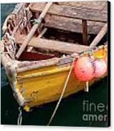 Fishing Boat Canvas Print by Carlos Caetano