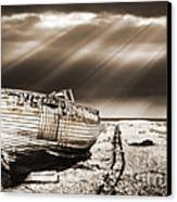 Fishing Boat Graveyard 9 Canvas Print by Meirion Matthias