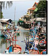 Fishing Boats Canvas Print by Adrian Evans
