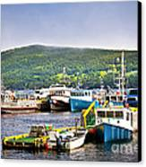 Fishing Boats In Newfoundland Canvas Print by Elena Elisseeva