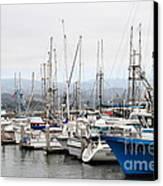 Fishing Boats In Pillar Point Harbor At Half Moon Bay California . 7d8208 Canvas Print by Wingsdomain Art and Photography