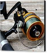 Fishing Rod And Reel . 7d13549 Canvas Print by Wingsdomain Art and Photography