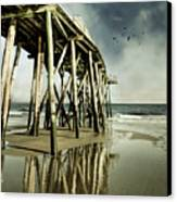 Fishing Shack Pier Canvas Print by Jody Trappe Photography