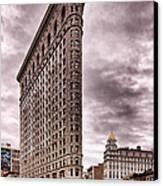 Flat Iron Building Canvas Print by Michael Dorn