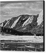Flatirons From Chautauqua Park Bw Canvas Print by James BO  Insogna