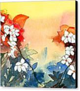 Floral Neklace Canvas Print by Anil Nene