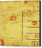 Floral Pattern On Old Postcard Canvas Print by Setsiri Silapasuwanchai