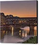 Florence - Ponte Vecchio Canvas Print by Joana Kruse